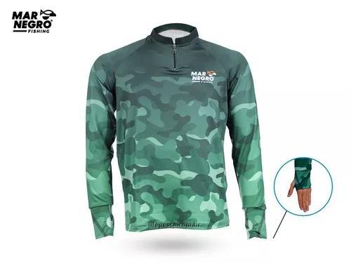 Camisa proteção solar 50+ uv dry fit mar negro - modelos