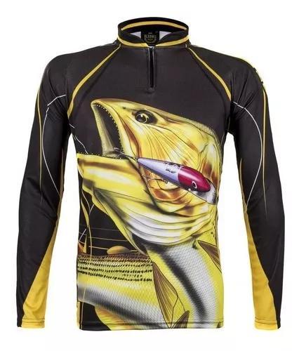 Camiseta de pesca king proteção solar 50+ (escolha modelo)