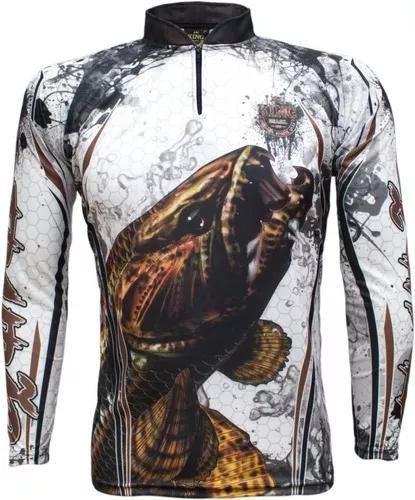 Camiseta de pesca king proteção solar uv kff300 trairá