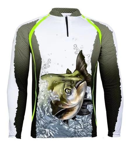 Camiseta de pesca proteção solar uv king kff67 tamba