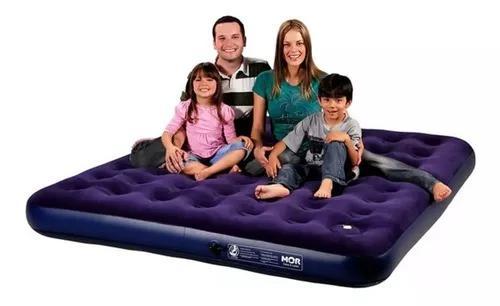 Colchão inflável multiuso king size + inflador