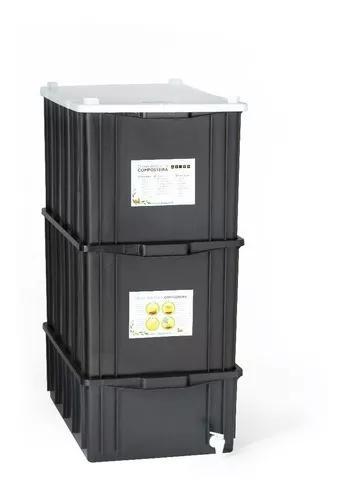Composteira doméstica / minhocário g - 60l - frete