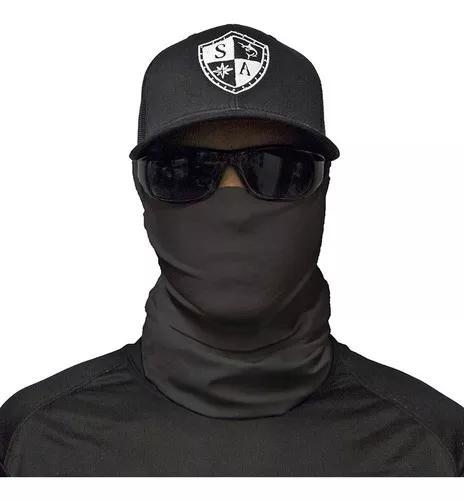 Face shield preta tática bandana balaclava moto pesca caça