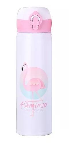 Garrafa termica flamingo aço inox quente frio 500ml vacuo