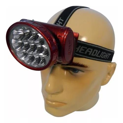 Kit 10 lanterna de cabeça recarregavel 13 led forte