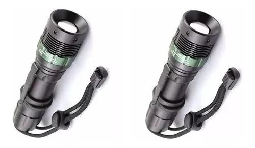 Kit 2 lanterna tática recarregável profissional police