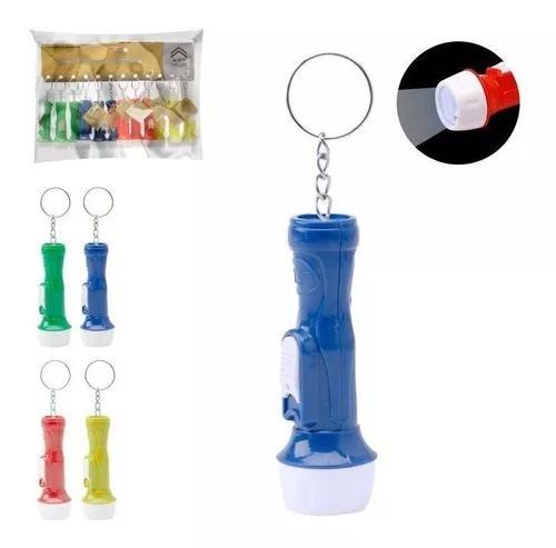 Kit 24un mini lanterna de led chaveiro l