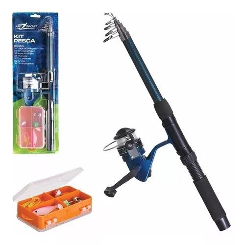 Kit pesca completo vara 2mts + molinete