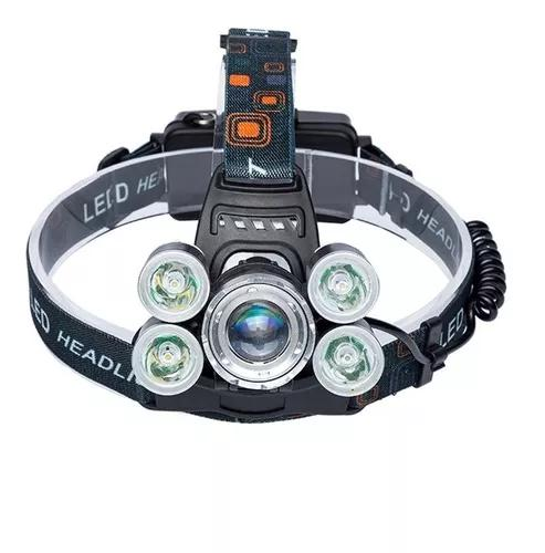 Lanterna cabeça cree t6 c/ 5 led profissional swat tática