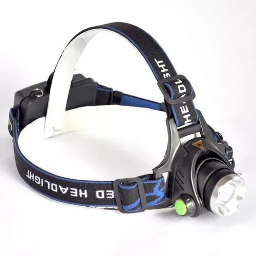 Lanterna cabeça recarregável c/ zoom regulável +251