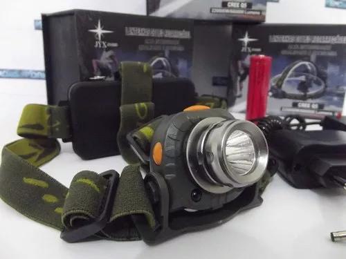 Lanterna cabeça recarregável + sensor + bateria extra!