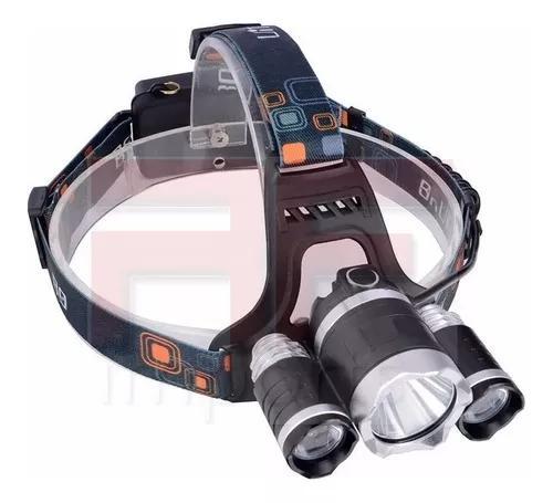 Lanterna cabeça triplo t6 led cree profissional swat
