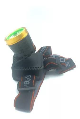 Lanterna de cabeça 1 led alta luminosidade recarregável