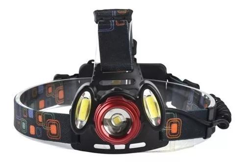 Lanterna de cabeça camuflada recarregável ajustável