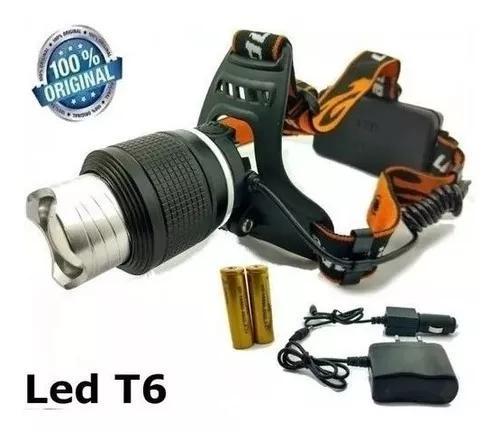 Lanterna de cabeça t6 led tática + 3.250.000lumen jy-8843