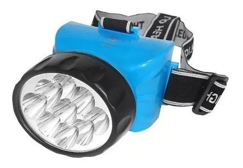 Lanterna de cabeca recarregável 12 leds albatroz 722b