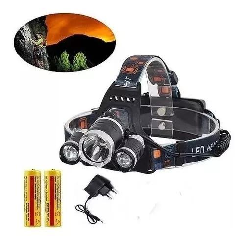 Lanterna / farol de cabeça recarregável bike 3 led cree t6