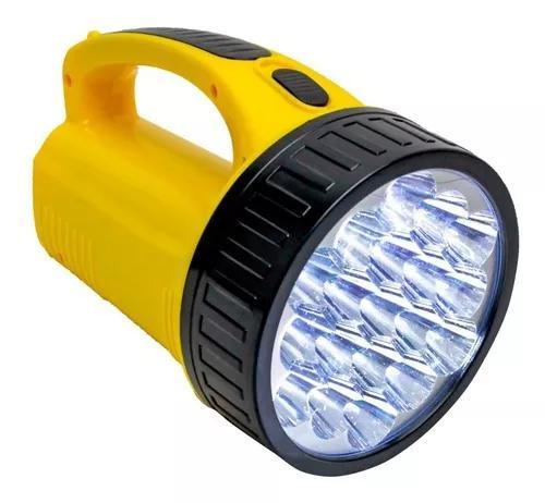 Lanterna holofot dp1706 super 19 leds bivolt recarregavel