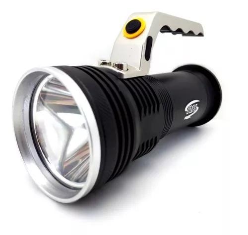 Lanterna holofote profissional com alça recarregável ultra