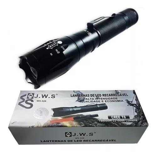 Lanterna led t6 tática recarregável potente original c/