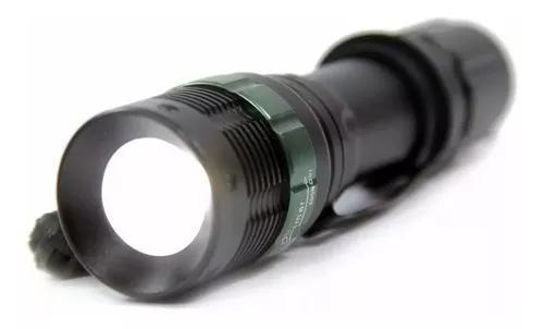 Lanterna police q5 led 25000 bateria lúmens carregador