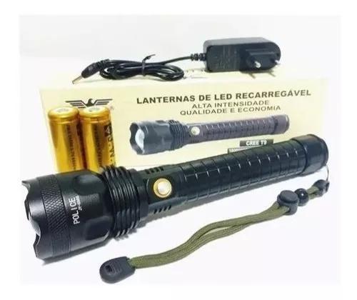 Lanterna recarregável led t9 novidade mais potente