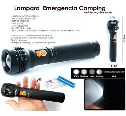 Lanterna recarregável portátil usb zoom led xml-t6 y02