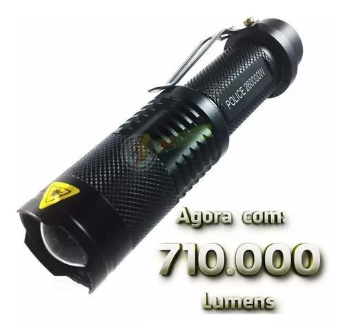 Lanterna tática police 440.000 lumens led t6 militar -