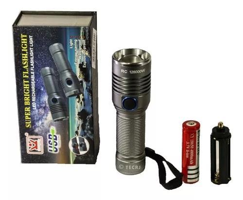 Lanterna tática recarregável antiexplosão resiste a água