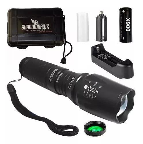 Lanterna tática shadowhank x900 original caixa lente verde