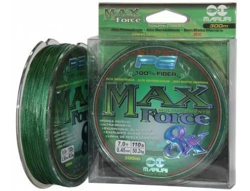 Linha multifilamento maruri max force 8x 8 fios 0,18mm 300mt