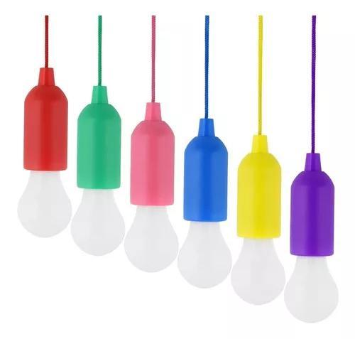 Lâmpada Portátil De Led Luminária Lanterna Cordão +