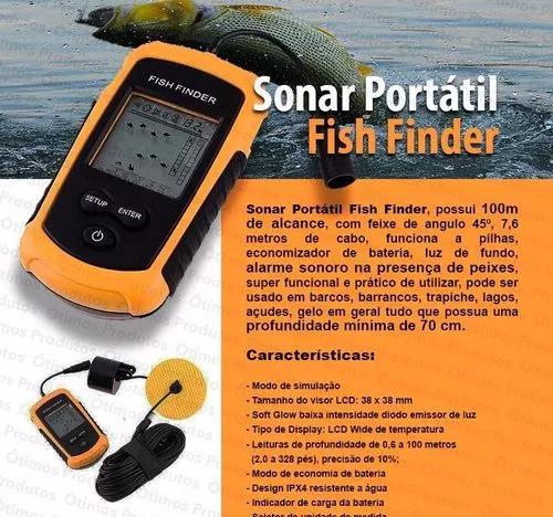 Localiza peixe água mar pescaria caiaque fish finder