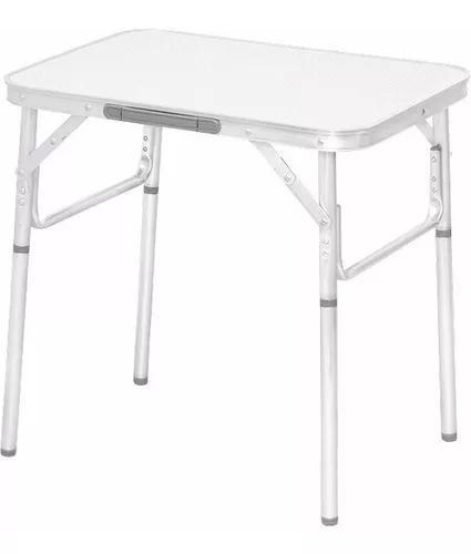 Mesa dobravel aluminio 60 x 45cm vira maleta palisad forte