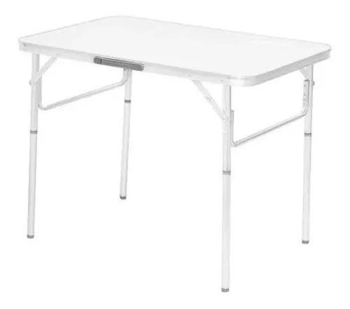 Mesa dobravel aluminio 90 x 60cm vira maleta palisad forte