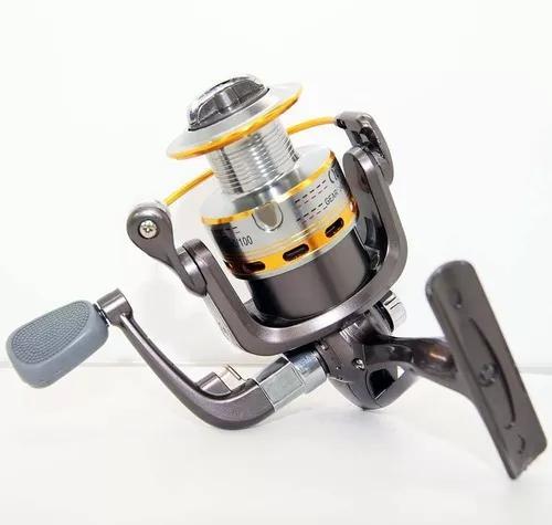 Molinete pesca st 4000 carretel alumínio 10 rol
