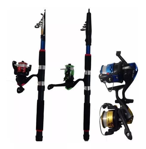 Pesca 3 vara 1,70m 3 molinete 2 rol. 300m linha+brinde pesca