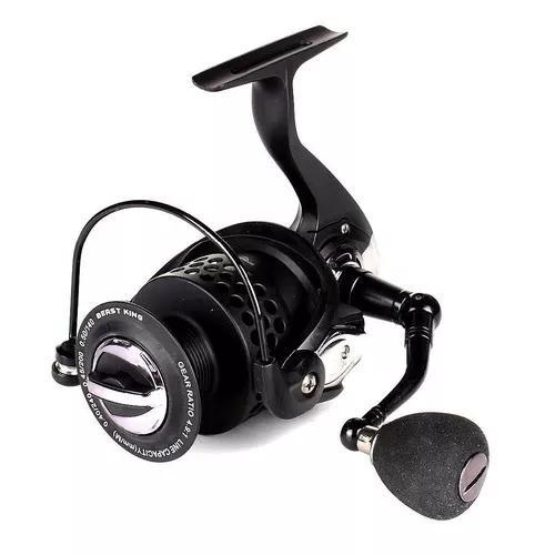 Pesca molinete 13+1 rol ultra light aluminio preto tigre