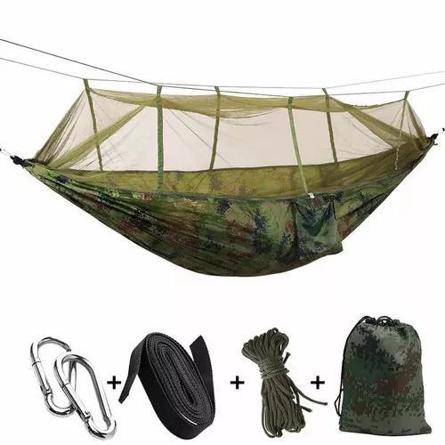 Rede de descanso com tela mosquiteiro camping trilha pesca