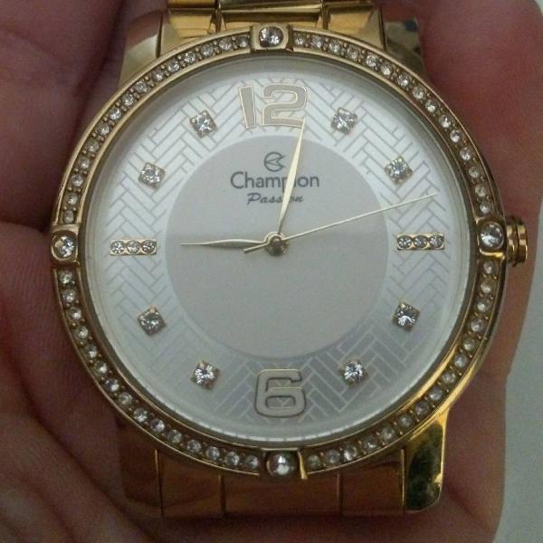 Relógio champion feminino com pedras