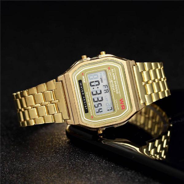 Relógio feminino casio vintage gold ouro garantia + brinde