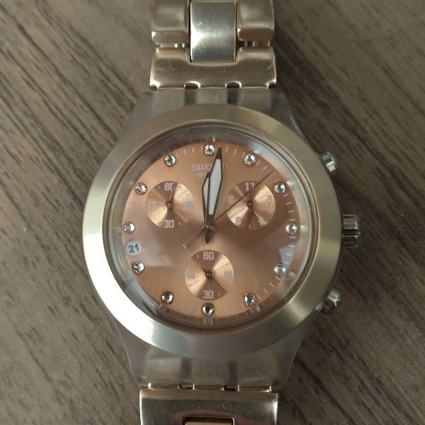 Relógio swatch original cor rosê