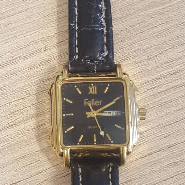 Relógio de couro feller