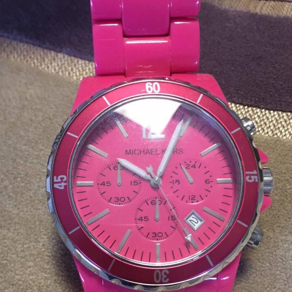 Relogio pink michael kors original