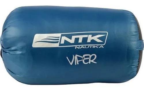 Saco de dormir nautika com capus viper 5ºc a 12ºc + sacola