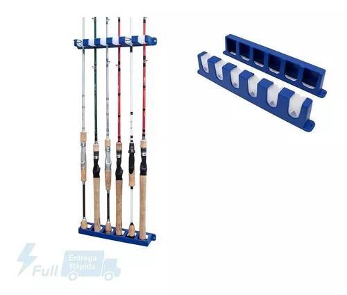 Suporte de varas pesca de parede c/ 6 suportes rod rack
