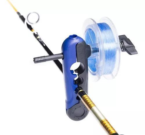 Suporte p/ carretel de linhas desenrolador pesca portatil