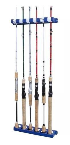 Suporte parede para 6 varas pesca aquafishing rod rack
