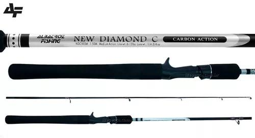 Vara para carretilha albatroz new diamond (1,50m) 6-12lb 2p