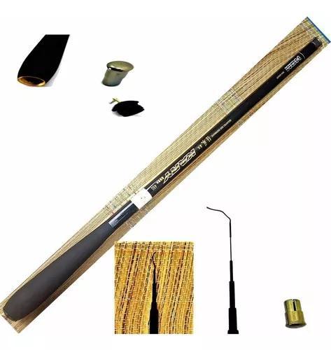 Vara pesca 100% fibra carbono telescópica ultra leve 4,0m